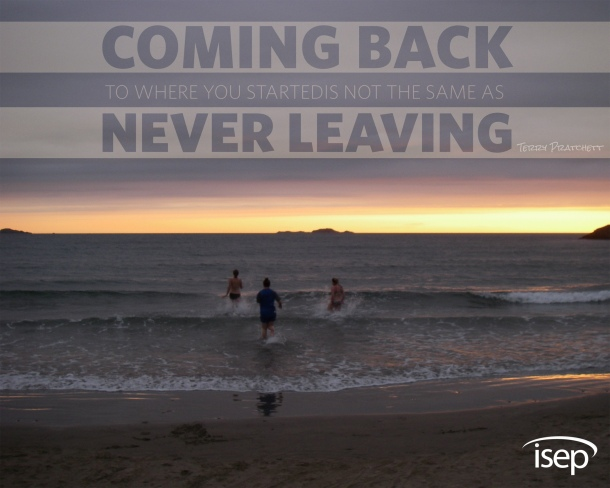 """Coming back is not the same as never leaving."" (Photo by Michelle Rene Summers, University of Chester, United Kingdom)"
