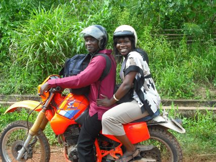 Getting from point A to point B isn't always easy. With the help of a local Ghanaian, Quencina G (University of Ghana) rides a motorcycle to reach her final destination