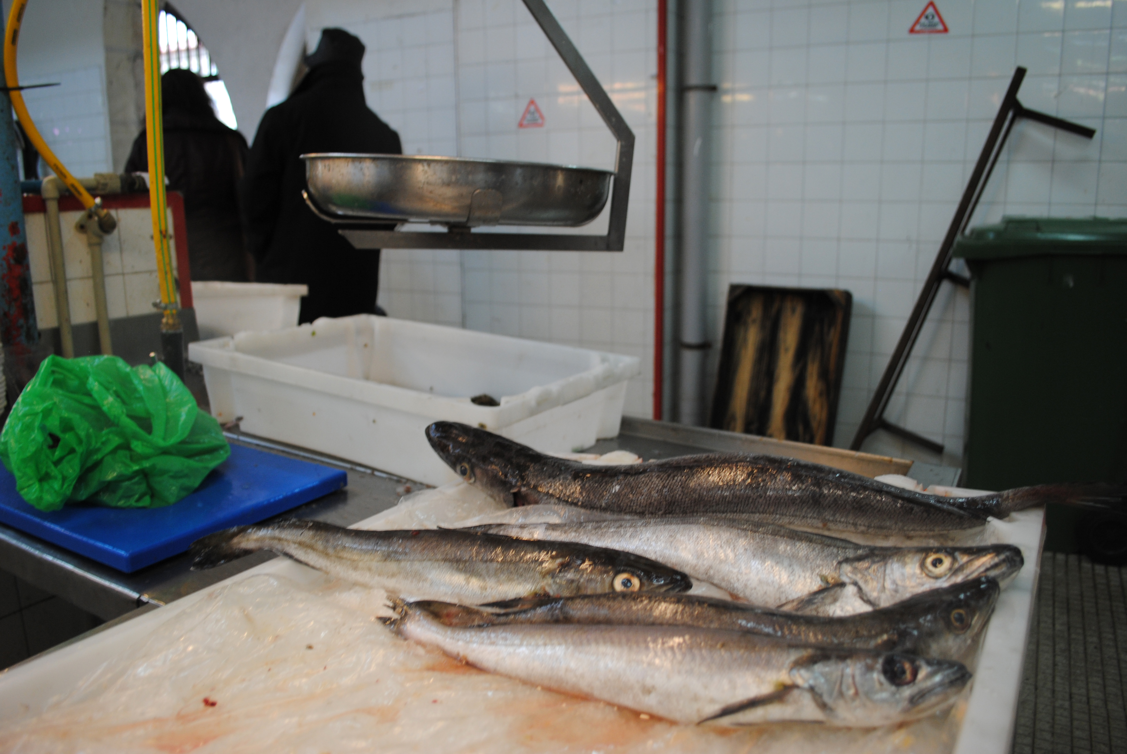 A fish market in Cambados, a town in Galicia