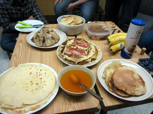 "Some of the pancakes at ""Pannenkoeken Dag"" (Photo Credit: Amanda Pennini)"