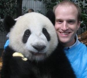 Derek ISEP Regional Director with a panda