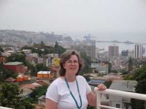 Karlene in the hills of Valparaiso