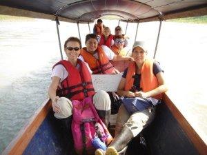 Rachel with her family in Ecuador