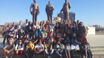 """Tapologo gathered local and visiting students for """"Africa Welcomes You."""""""
